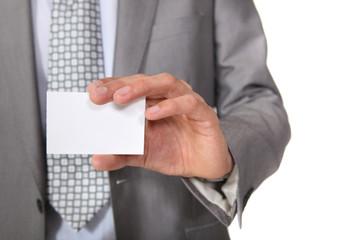 A blank business card