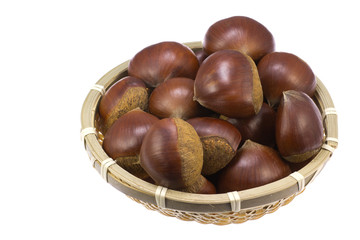 Chestnuts was served in a basket