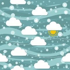 śnieg słońce serca turkusowe niebo