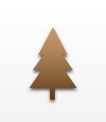 Brown christmas tree