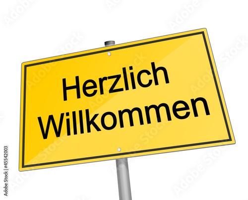 Schild Herzlich Willkommen Stockfotos Und Lizenzfreie