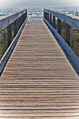 Deurstickers Pier Pier to The Atlantic Ocean