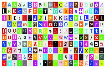 lettres alphabet
