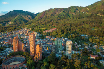 Photo sur Plexiglas Amérique du Sud Bogota and the Andes Mountains