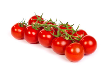 Juicy organic Cherry tomatoes isolated