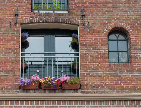 window with flower boxes
