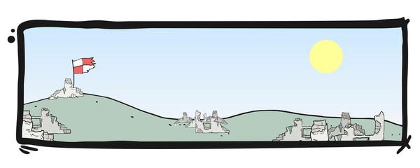 Sky frame scene