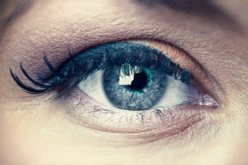 Young woman eye closeup