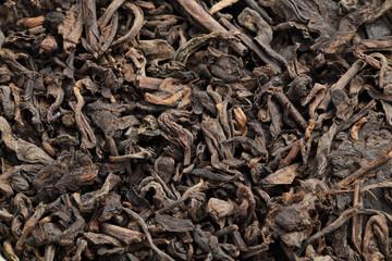 Black tea loose dried tea leaves