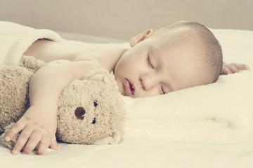 Fototapeta Śpiący noworodek obraz