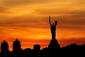 Sunset over Kiev