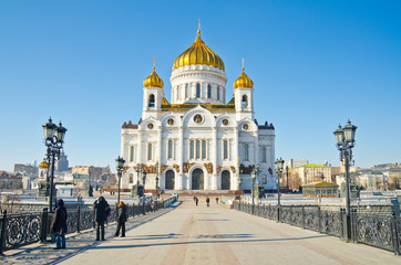 Tuinposter Moskou Cathedral of Christ the Saviour, Moscow