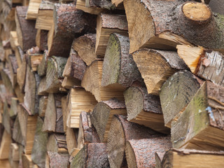 Feuerholzstapel