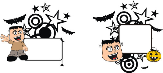 frankenstein kid halloween copy space5