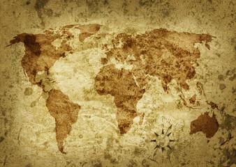Poster Carte du monde Alte Weltkarte