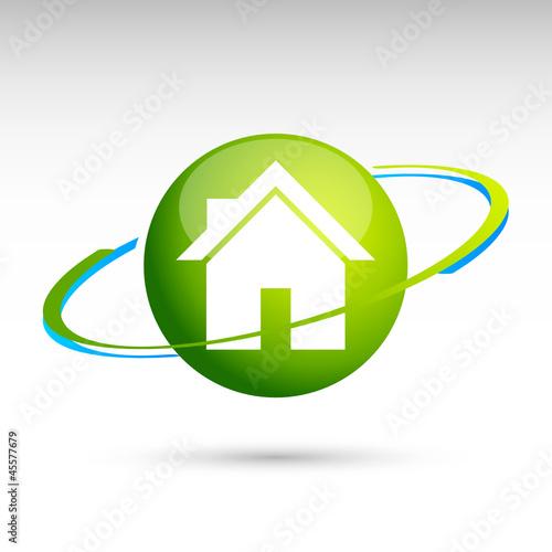 Logo maison nergie fichier vectoriel libre de droits - Classe energie d maison ...