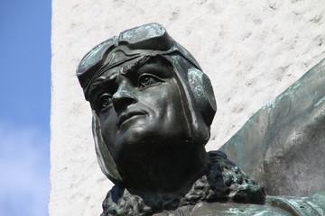 Obelisk am Sowjetischen Ehrenfriedhof in Brandenburg a.d. Havel