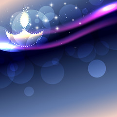 shiny diwali background