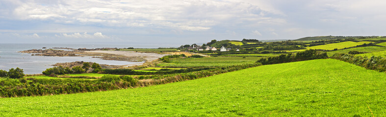 Typical Landscape Panorama in Normandy, France Fototapete