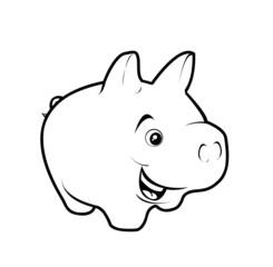 sparschwein schwein glücksschwein pinselspitze brush