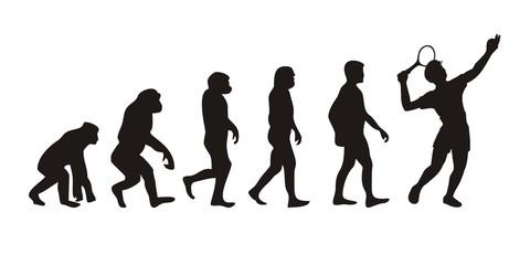 Vom Affen zum Tennisspieler (Menschen)