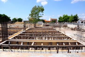 Cantiere edile - Carpenteria di struttura in cemento armato