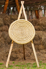 Ancient archery shooting target