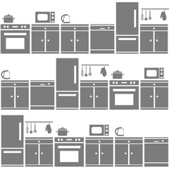 kitchen equipment seamless pattern