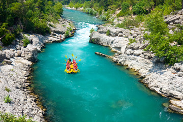 Autocollant pour porte Turquie rafting in the green canyon, Alanya, Turkey