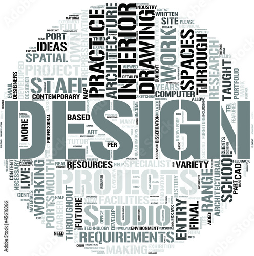 interior design word cloud concept stock image and