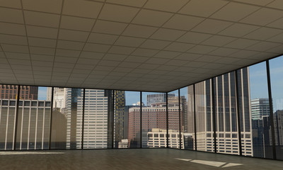 empty downtown office