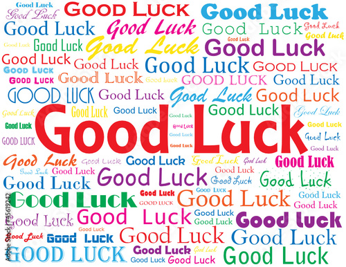 Good Luck Card Best Wishes Retirement Job Well Done Stock Image