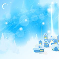 Blue New Year's background