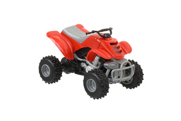Children's toy quad bike red