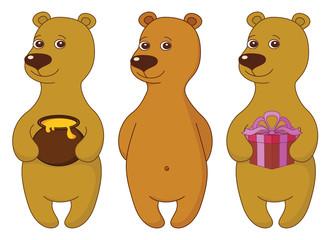 Teddy bears, set