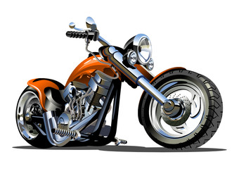 Aluminium Prints Motorcycle Vector Cartoon Motorbike