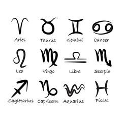 Vector zodiac signs