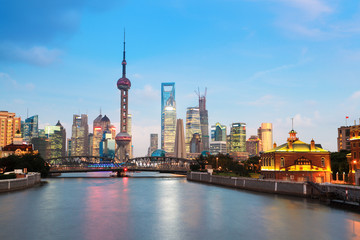 Fotobehang - beautiful night in shanghai