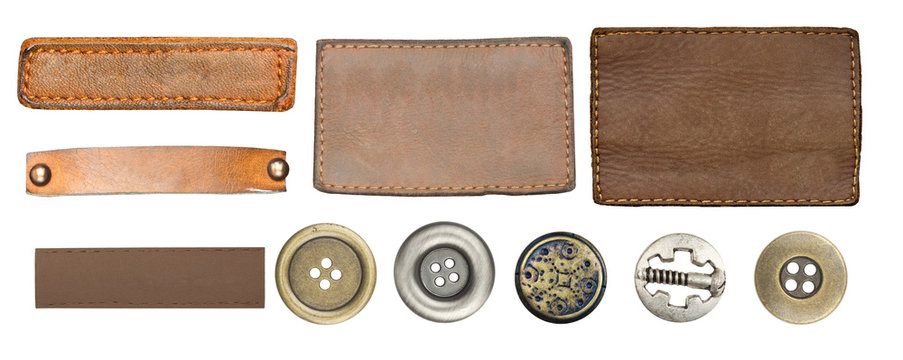 jeans labels and buttons