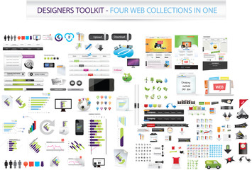 Designers toolkit - Four collections in one + web templates