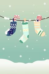 Winter Christmas stockings