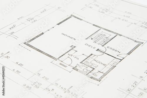 Bauplan einfamilienhaus stockfotos und lizenzfreie for Einfamilienhaus bauplan