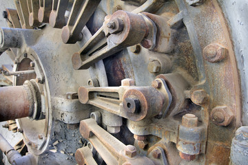 Old Hydroelectric Power Plant Turbine Closeup