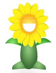 Humorous cartoons depicting sunflowers.