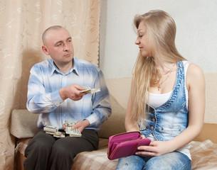 Family quarrel  over money