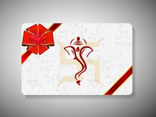 Gift card for Deepawali or Diwali festival in India. EPS 10.