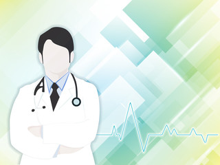 Health and medical background with Doctor (Male). EPS 10.