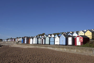 Beach Huts, Felixstowe, Suffolk, England