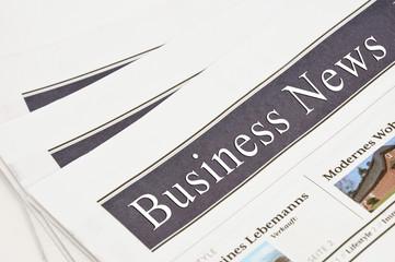 Fotobehang Kranten Business News