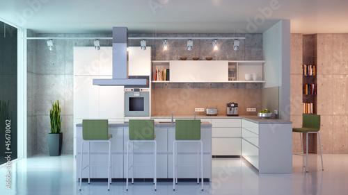 moderne wei e k che stockfotos und lizenzfreie bilder auf bild 45678062. Black Bedroom Furniture Sets. Home Design Ideas